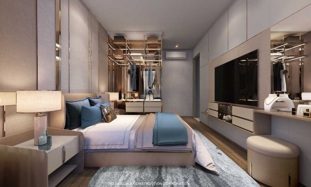 Nội thất căn hộ 2PN The Rivana