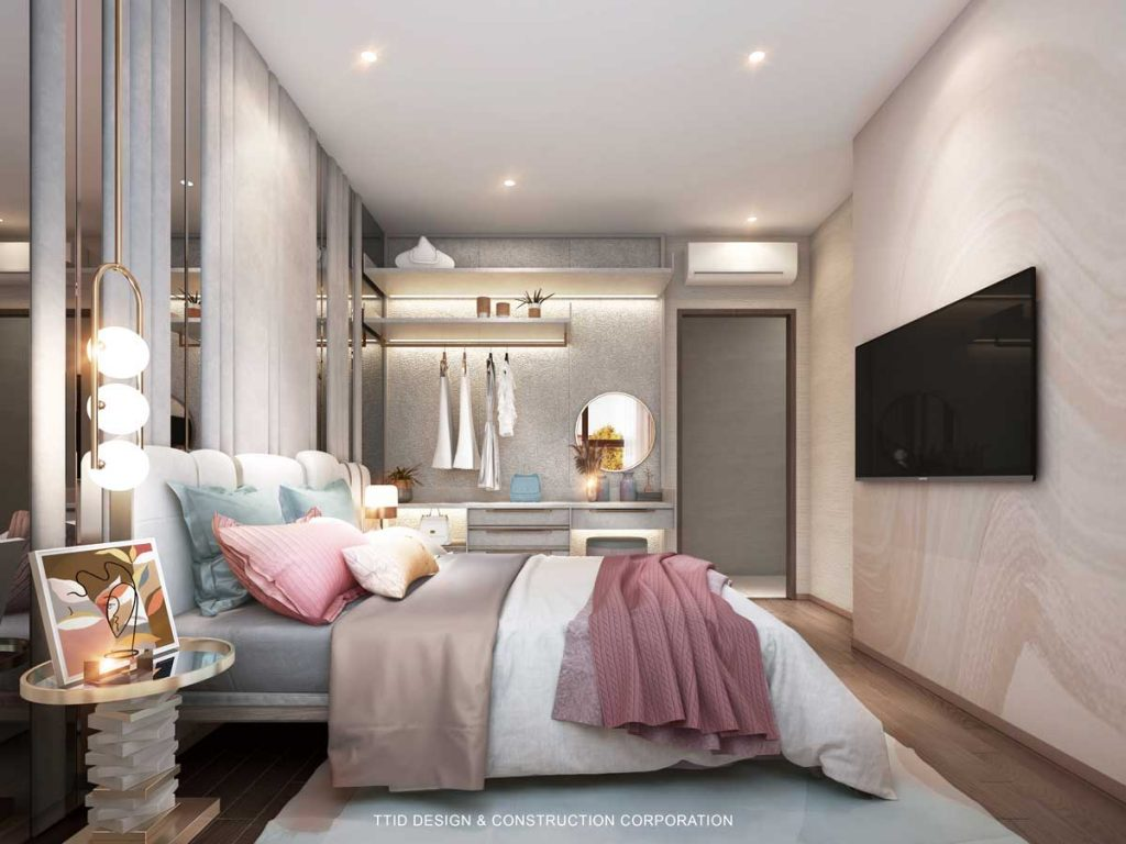 Nội thất căn hộ 3PN The Rivana