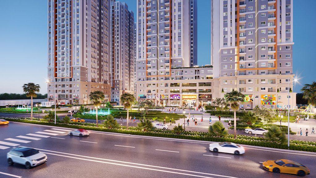 Phối cảnh mặt tiền dự án Biên Hòa Universe Complex