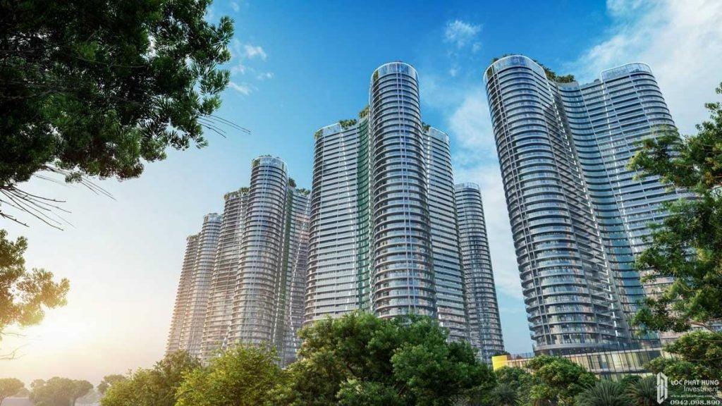 Phối cảnh tổng thể dự án căn hộ Sunshine Diamond River Quận 7 nhìn từ sông Sài Gòn