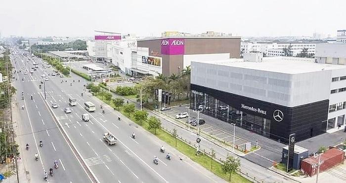 Quốc lộ 13 và TTTM AEon Mall Thuận An