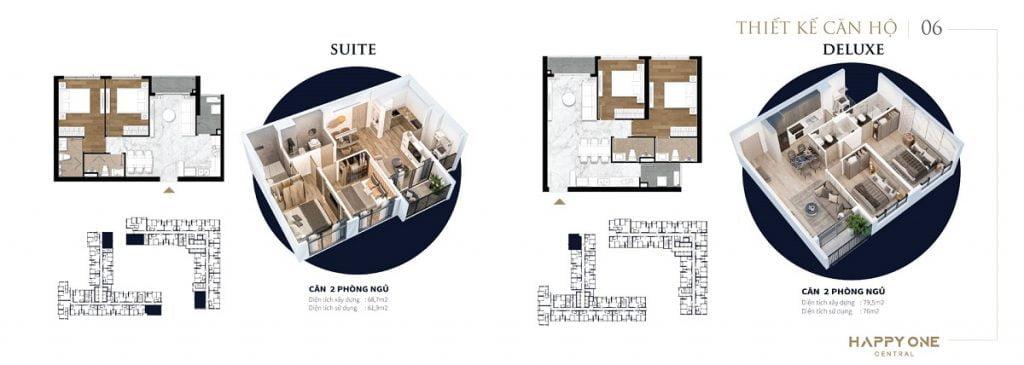 Mẫu thiết kế căn hộ 2PN