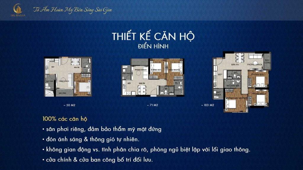 Thiết kế căn hộ The Rivana Thuận An