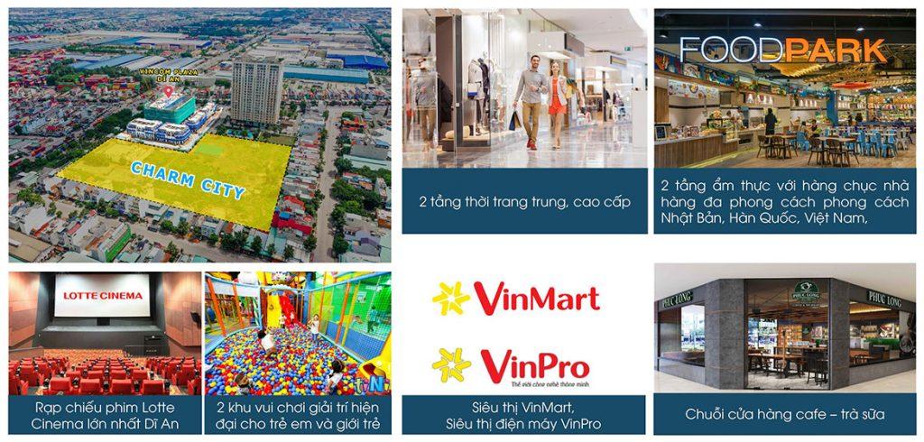 Tận hưởng các tiện ích của Vincom đầu tiên của Bình Dương với thiên đường mua sắm – giải trí – check-in – ăn uống ngay trong khuôn viên dự án