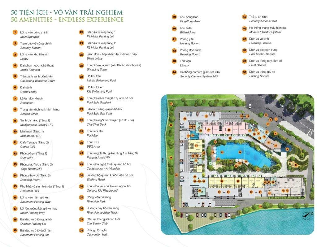 Hơn 50 tiện ích nội khu tại dự án Jamila Khang Điền