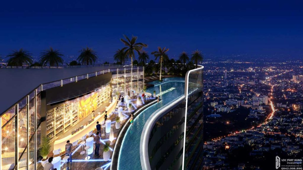 Sky Bar tầng thượng dự án căn hộ Sunshine Diamond River Quận 7 đường Đào Trí