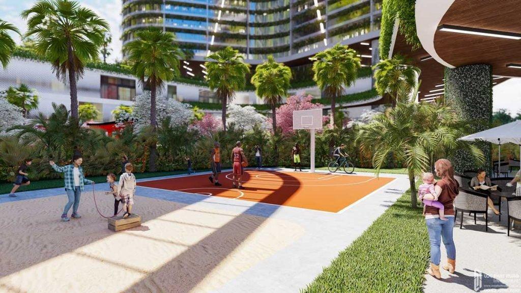 Sân vui chơi thể thao dự án căn hộ Sunshine Diamond River Quận 7 đường Đào Trí