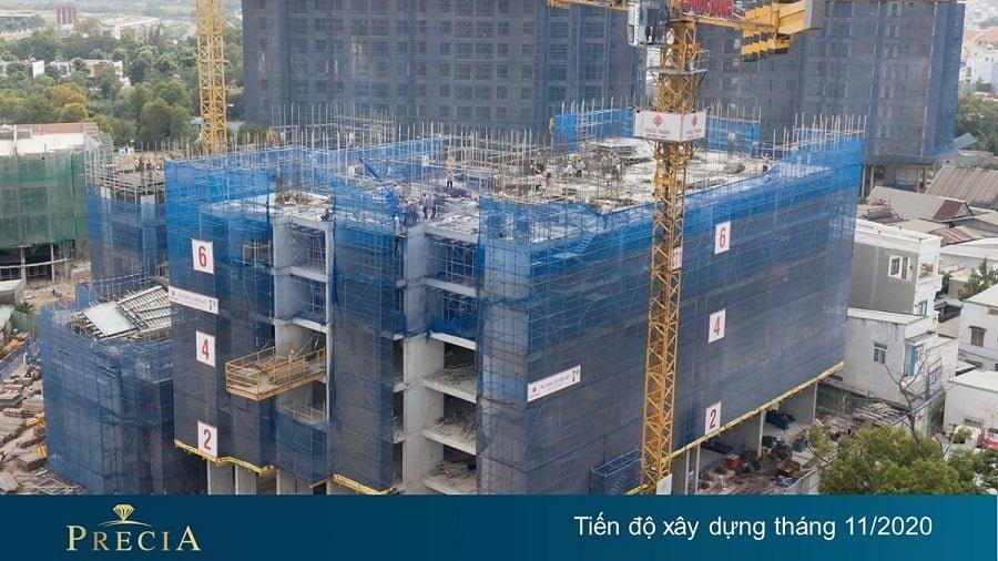 Tiến độ xây dựng căn hộ Precia tháng 11/2020