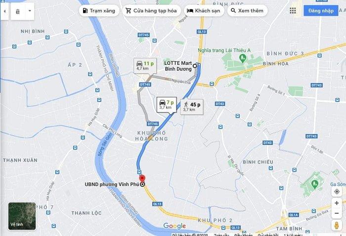 Chỉ mất 7 phút là cư dân có thể đến Lotte Mart