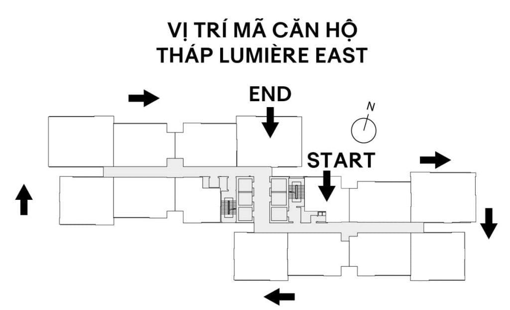 Vị trí mã căn tháp Lumière East