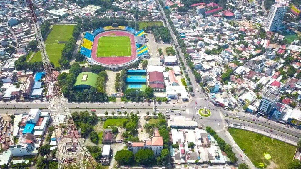 View thực tế về sân vận động Gò Đầu của căn hộ Happy One Central