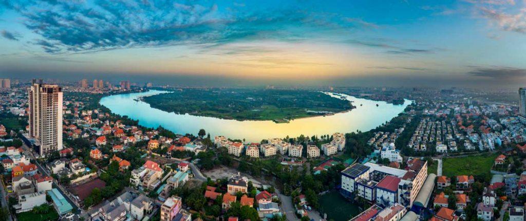 View sông Sài Gòn từ Q2 Thao Dien