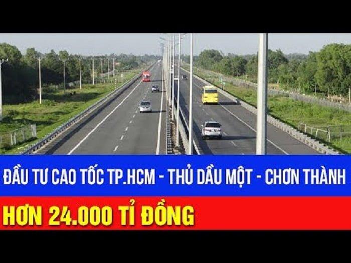 Cao tốc TP HCM - Thủ Dầu Một - Chơn Thành dự kiến vốn đầu tư hơn 24.000 tỉ đồng.