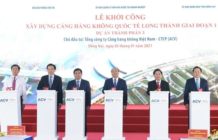 Lễ khởi công sân bay Quốc tế Long Thành ngày 05/01/2021