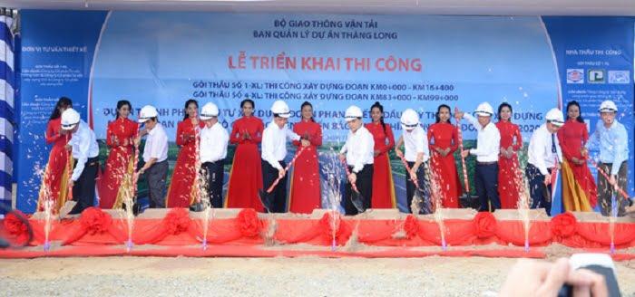 Lễ khởi công triển khai 2 trong 4 gói thầu chính của Cao tốc Phan Thiết - Dầu Giây