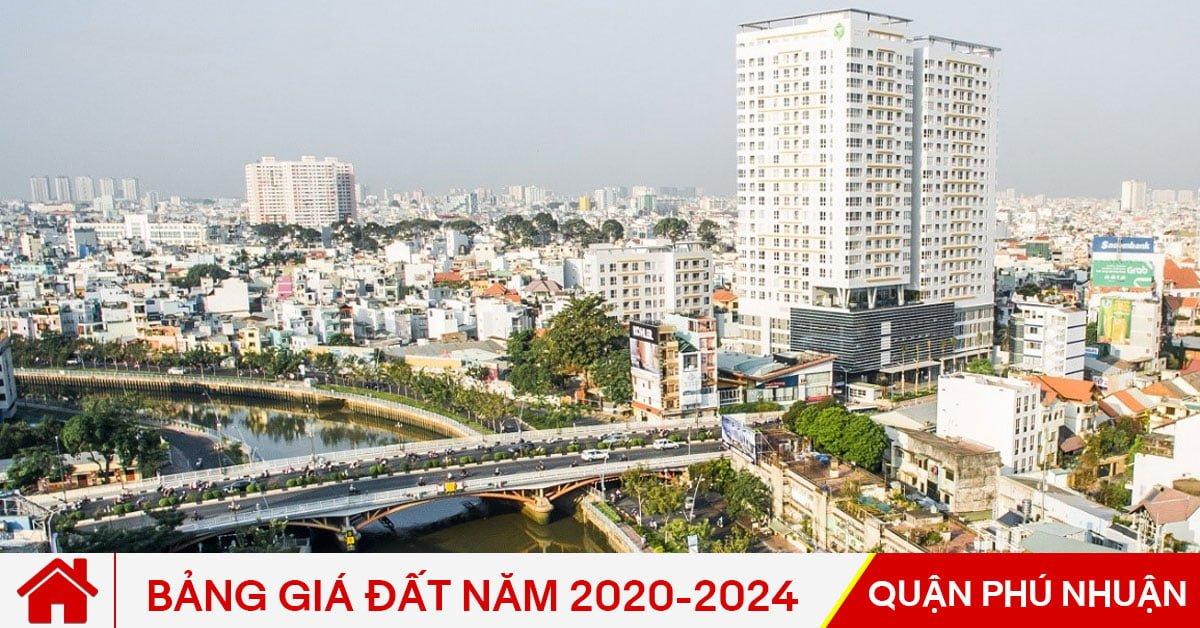 Bảng giá đất Quận Phú Nhuận năm 2020-2024
