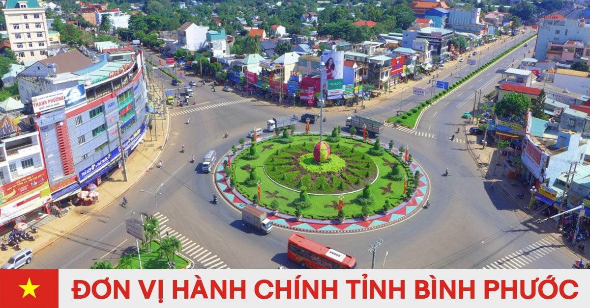 Danh sách đơn vị hành chính trực thuộc tỉnh Bình Phước