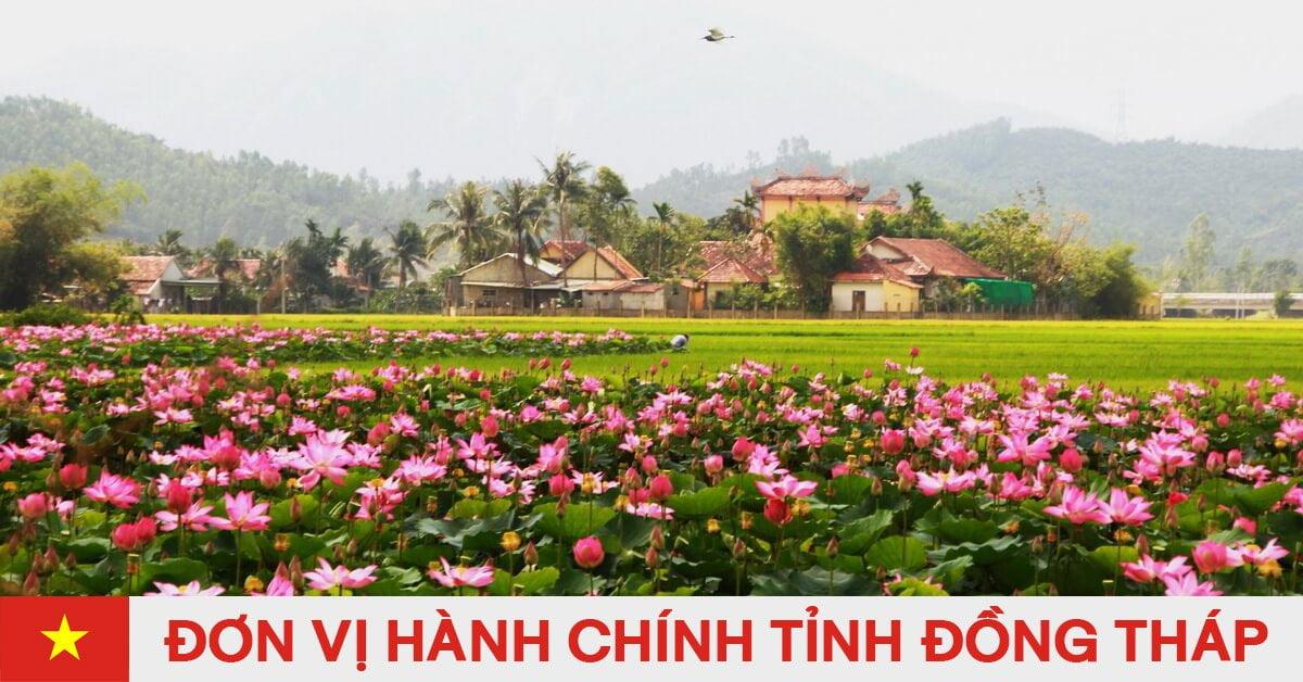 Danh sách đơn vị hành chính trực thuộc tỉnh Đồng Tháp