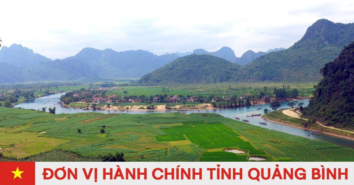 Danh sách đơn vị hành chính trực thuộc tỉnh Quảng Bình