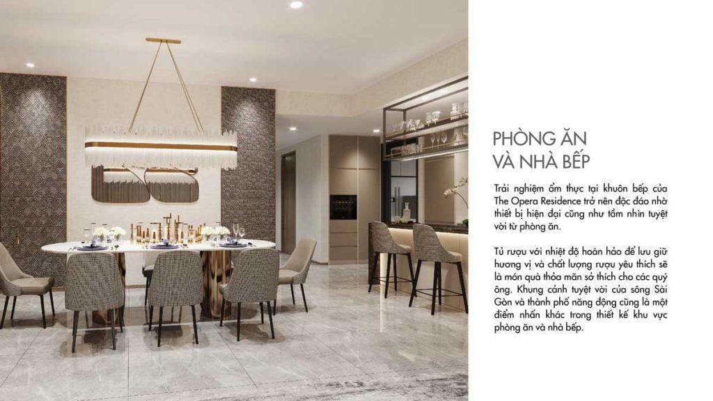 Thiết kế phòng ăn và nhà bếp