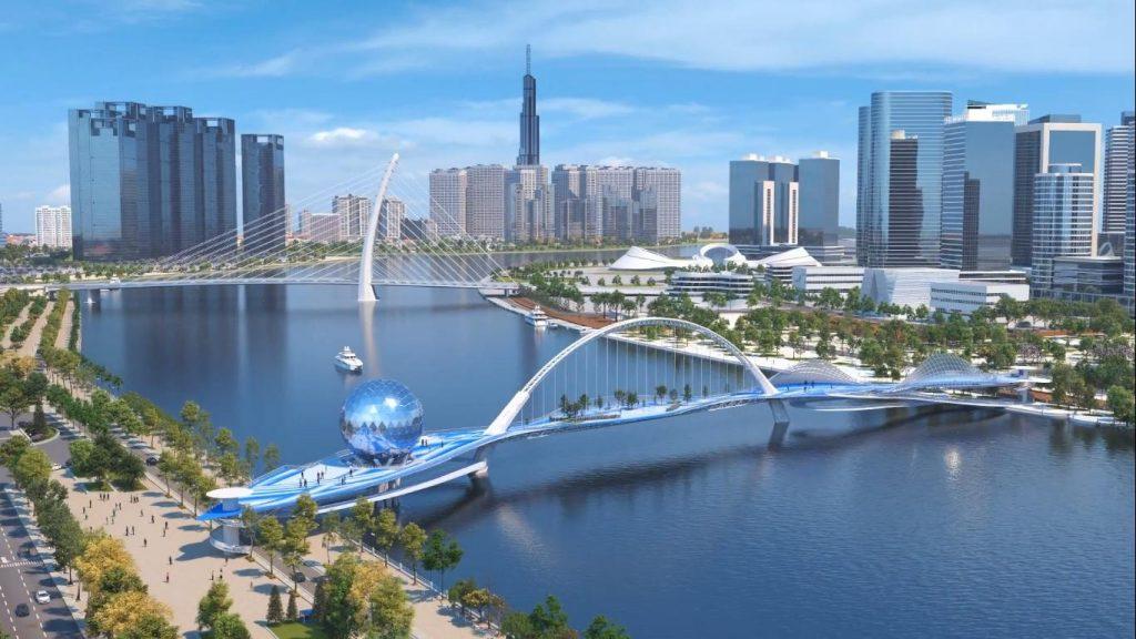 Cầu đi bộ Thủ Thiêm sẽ là điểm đến lý tưởng cho cư dân The Metropole trong tương lai