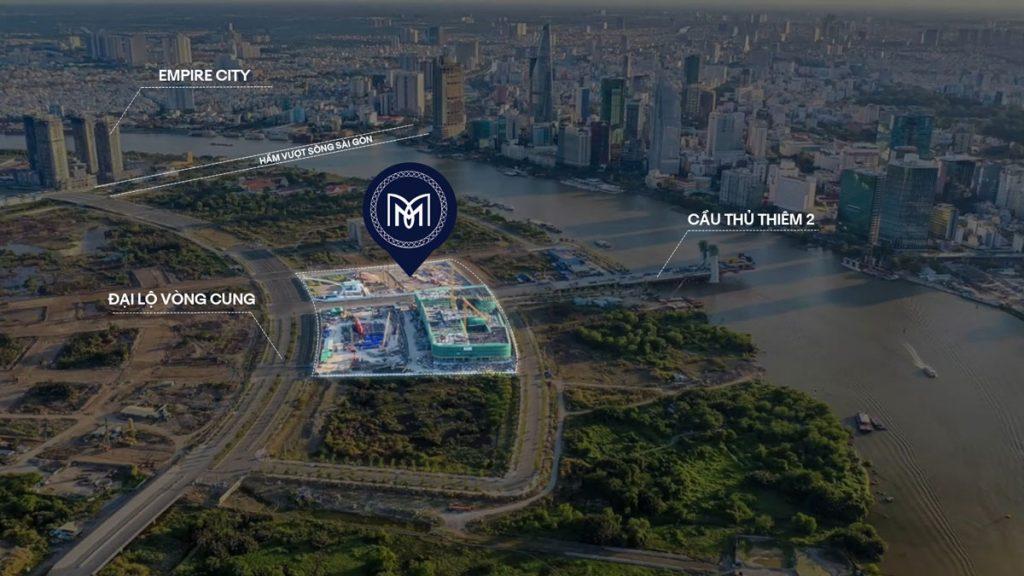 Vị trí thực tế của dự án The Metropole