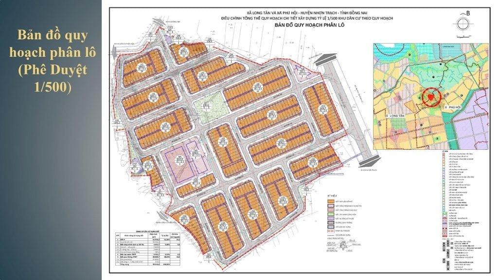 Tổng thể dự án Long Hội Central Point theo quy hoạch chi tiết 1/500
