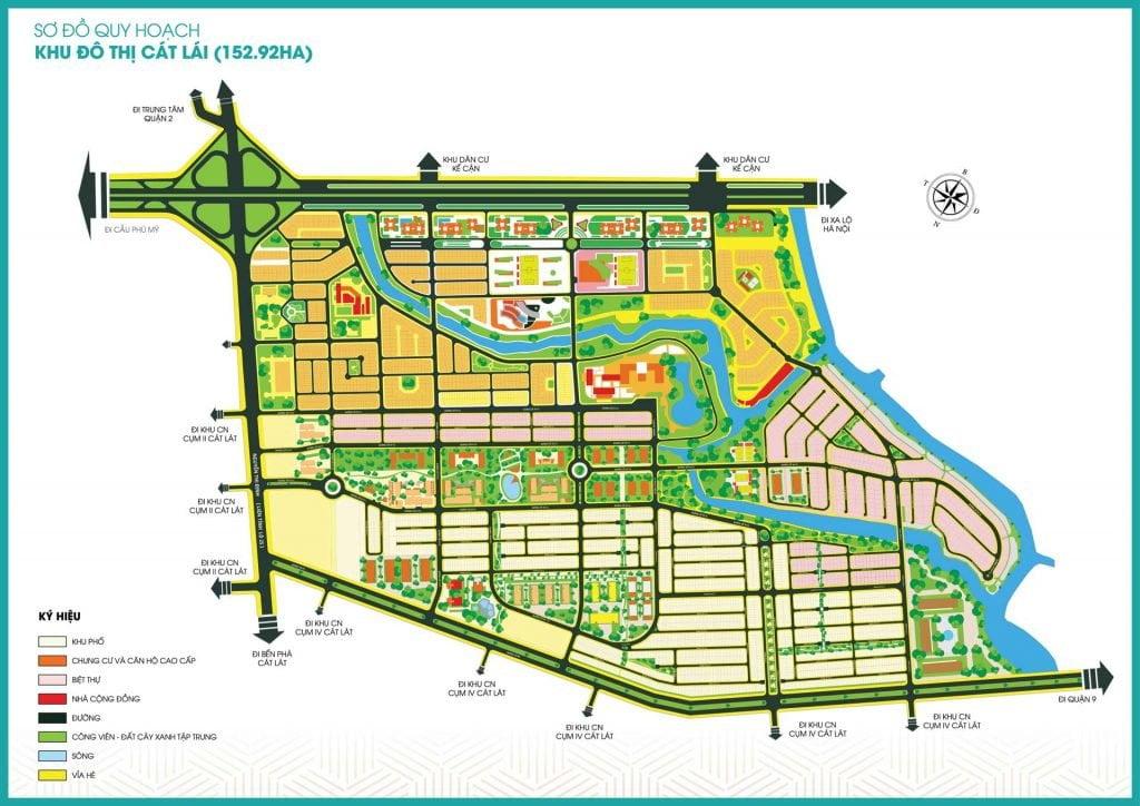 Sơ đồ quy hoạch khu đô thị Cát Lái 152ha