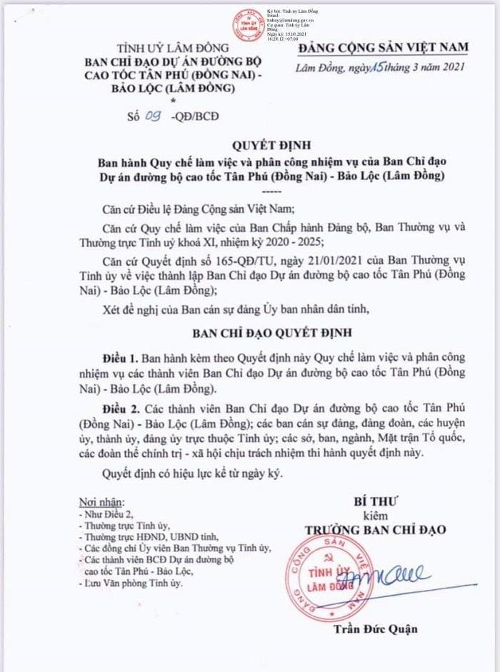 Cập nhật thông tin mới nhất về cao tốc Tân Phú - Bảo Lộc