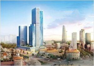 Saigon Centre 2 cao 194m gồm 43 tầng