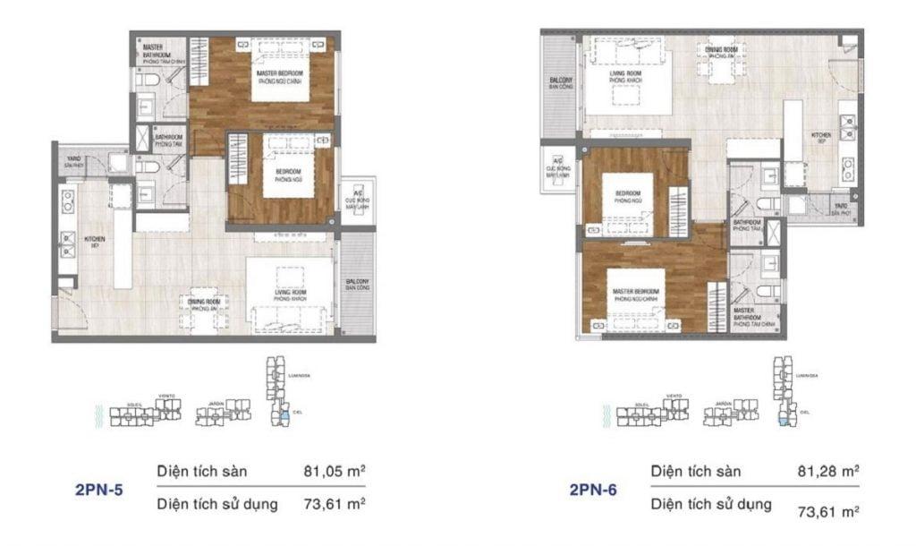 Thiết kế căn hộ One Verandah Thạnh Mỹ Lợi