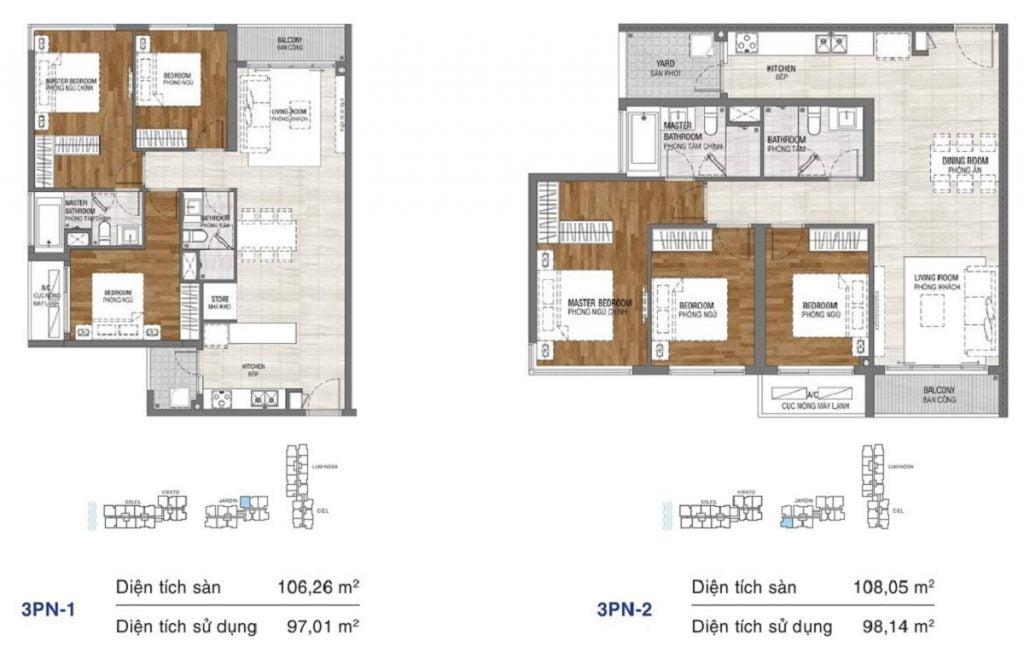 Thiết kế căn hộ 3PN tại One Verandah Mapletree Quận 2