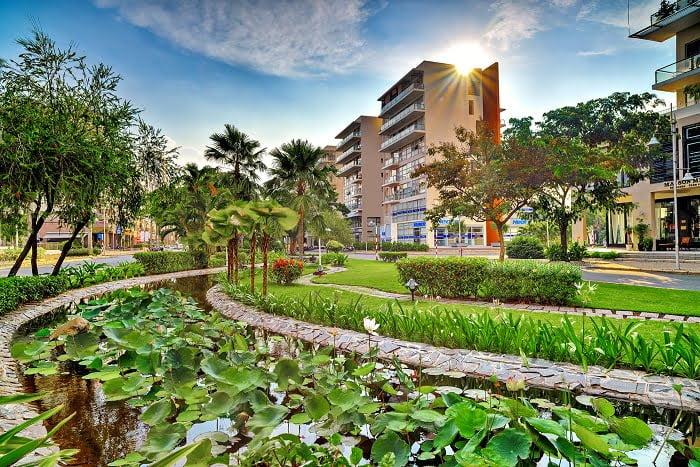 Một góc công viên tại Khu đô thị Phú Mỹ Hưng