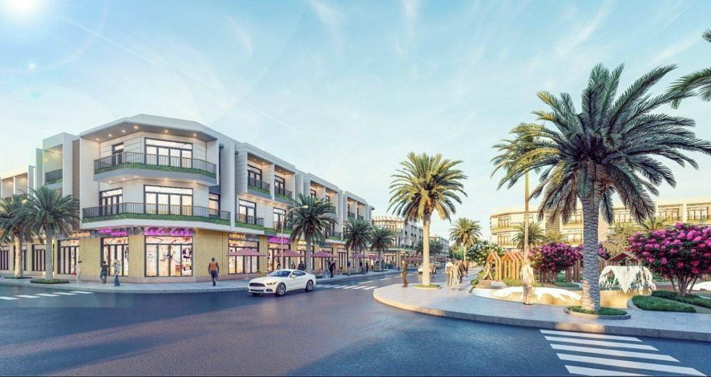 Dãy shophouse thuận tiện kinh doanh của Long Hội Central Point Đồng Nai được xây dựng sẵn