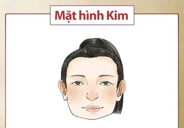 Khuôn mặt người mệnh Kim