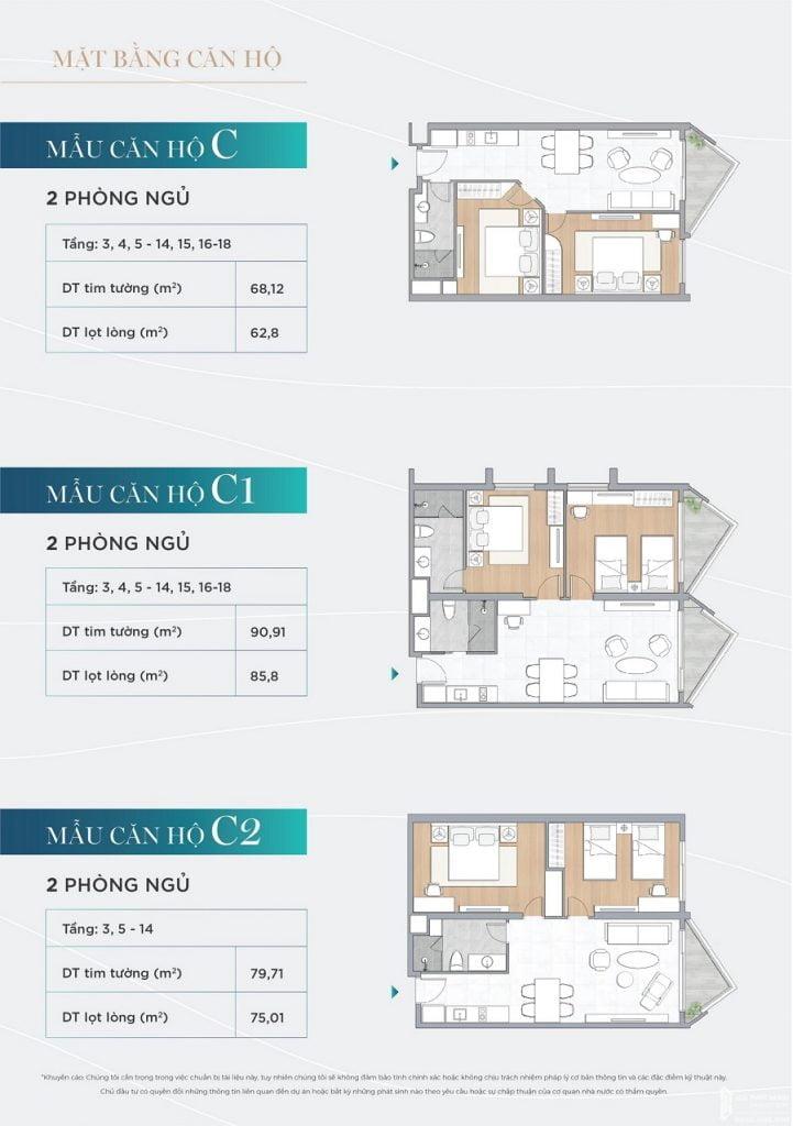 Thiết kế căn hộ Alaric Tower của dự án The Maris Vũng Tàu