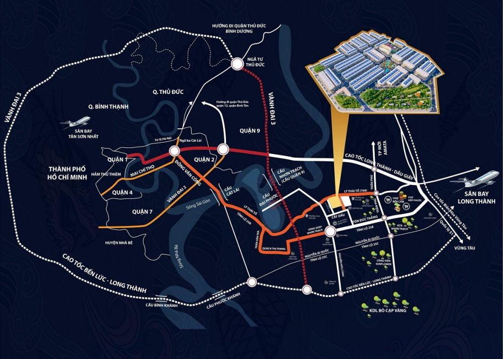 Vị trí chiến lượt tạo đà cho sự phát triển trong tương lai của Long Hội Central Nhơn Trạch