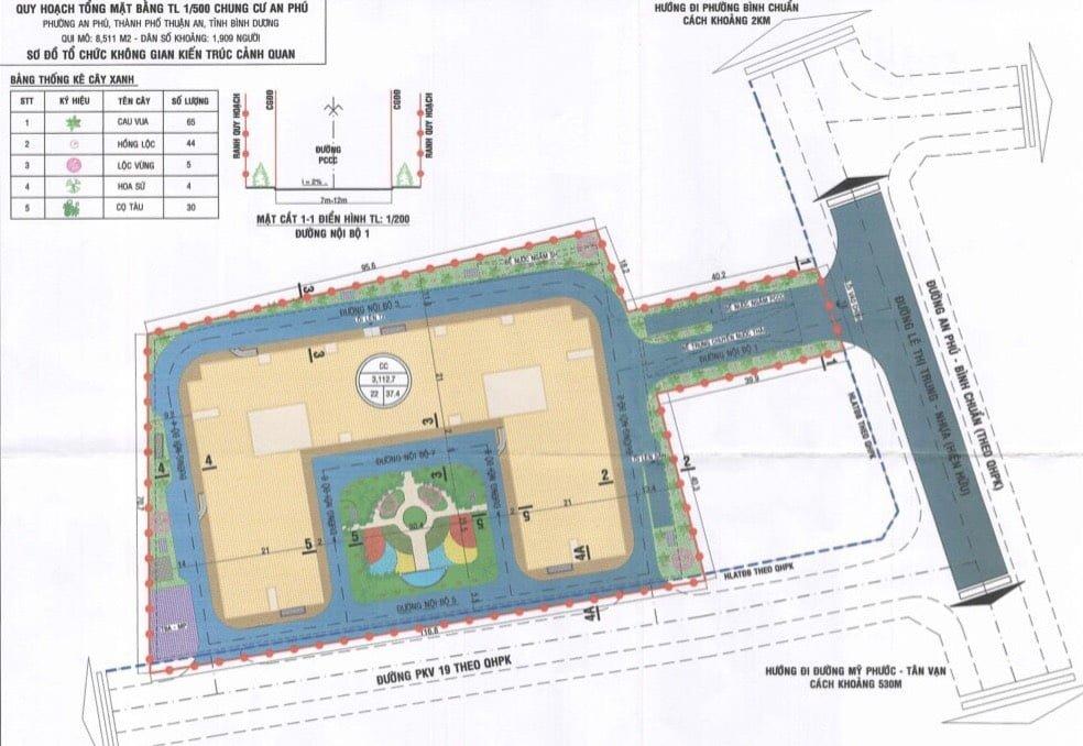 Quy hoạch 1/500 chung cư An Phú