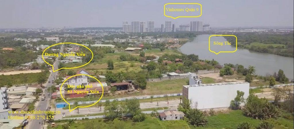 Vị trí thực tế khu nhà ở TPS 52 Nguyễn Xiển Quận 9