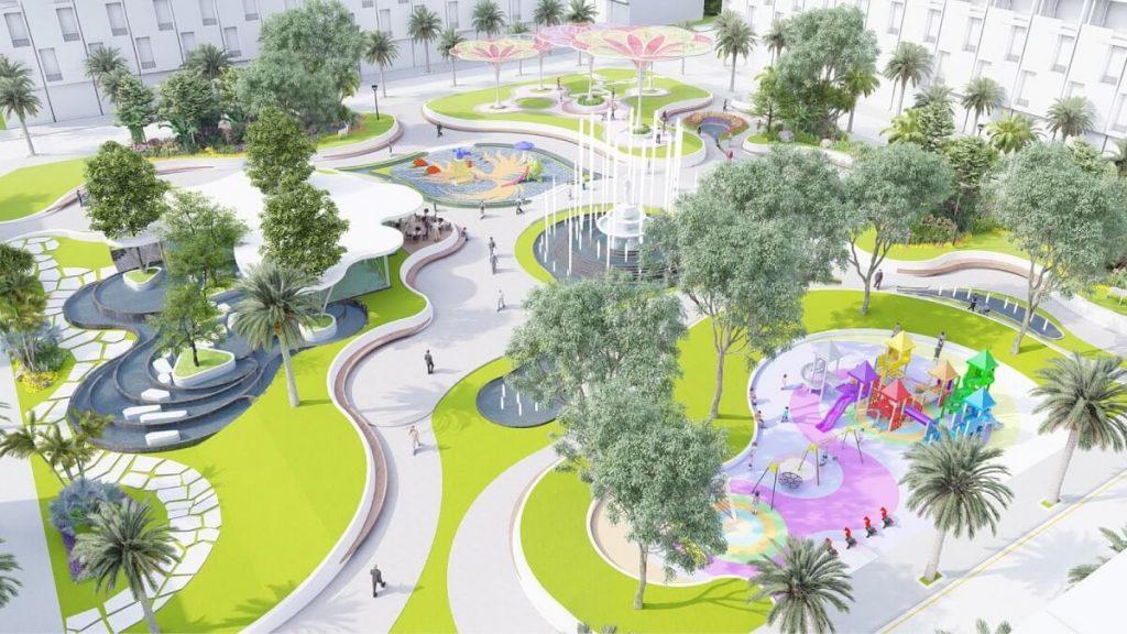 Công viên nội khu Phoenix Park Phúc Hưng Golden