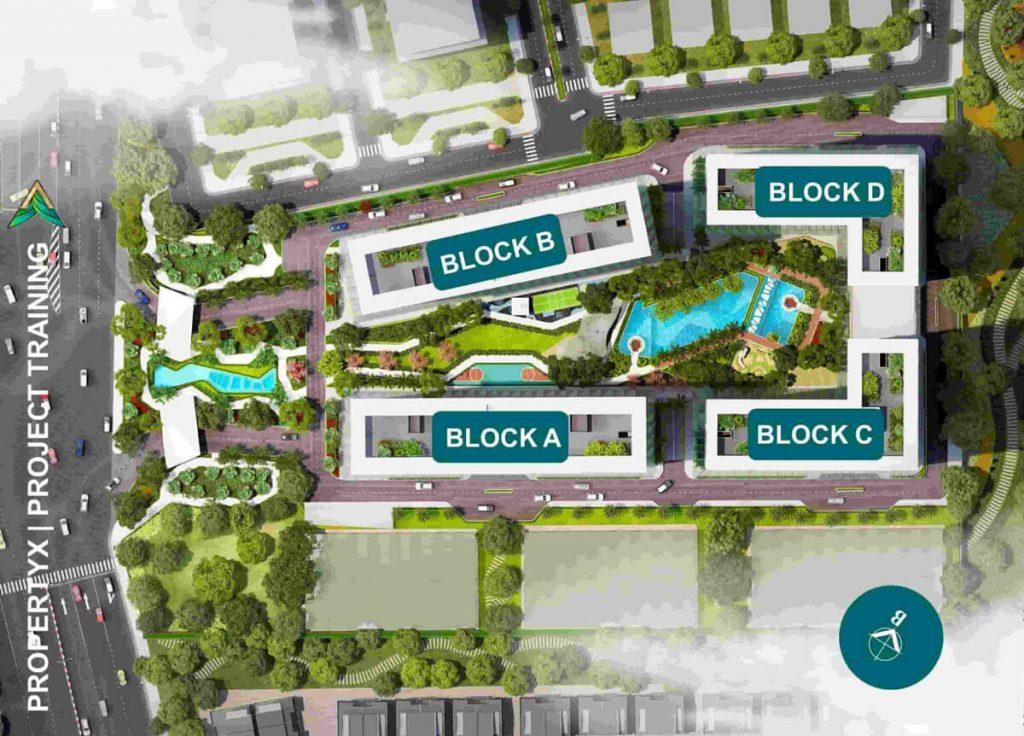 Vị trí các Block của dự án Lavita