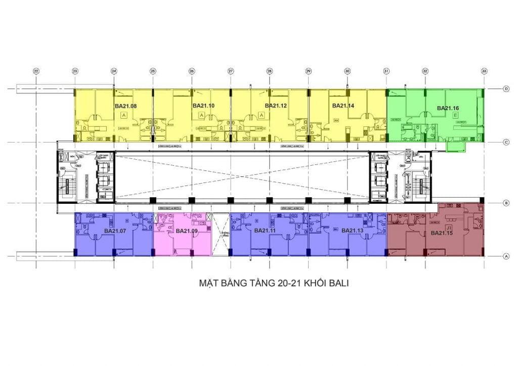 Tầng 20-21 - Tháp Bali