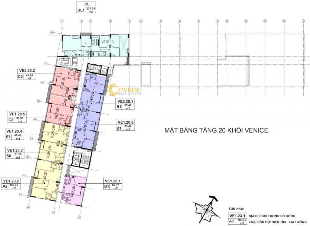 Tầng 20 - Tháp Venice