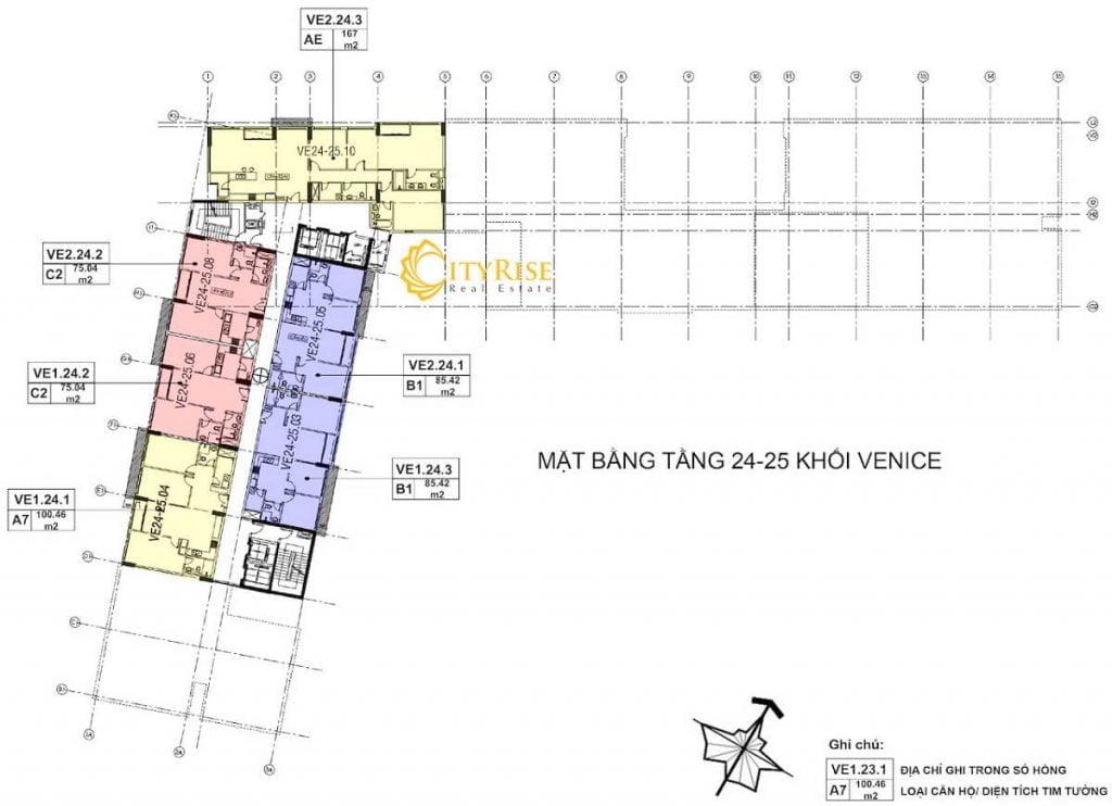 Tầng 24-25 - Tháp Venice