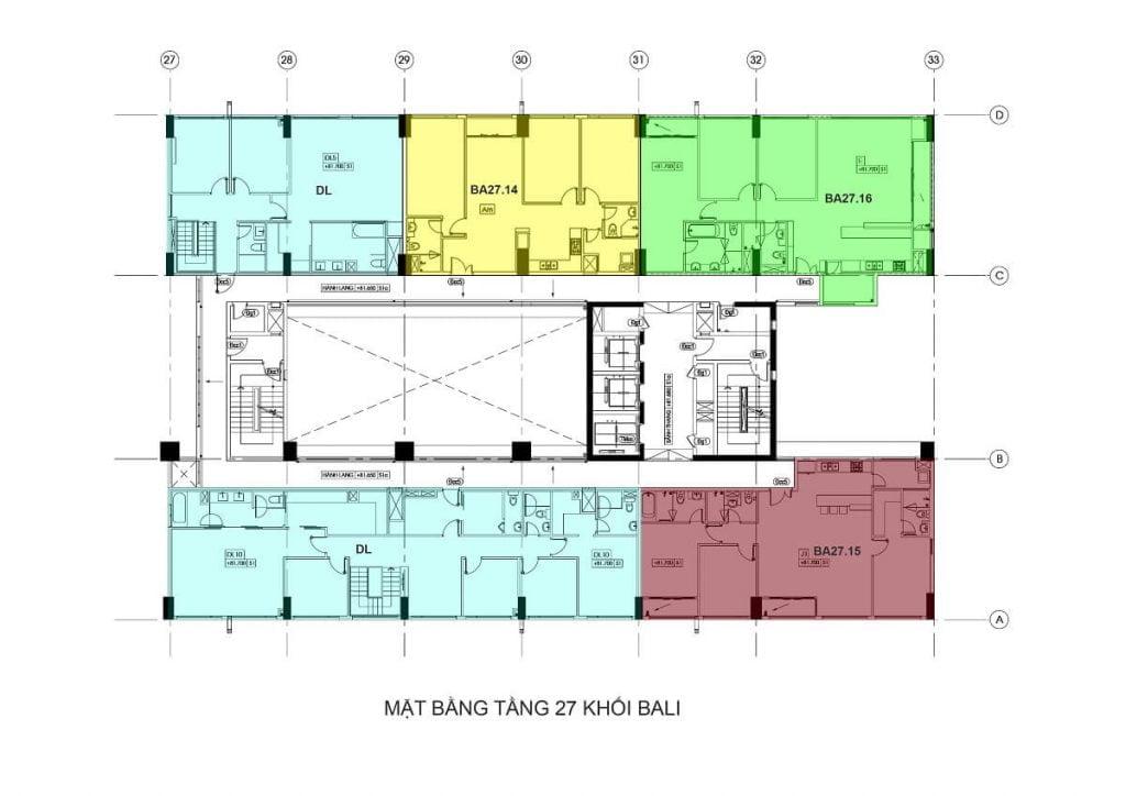 Tầng 27 - Tháp Bali