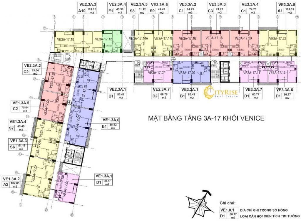 Tầng 3A-17 - Tháp Venice