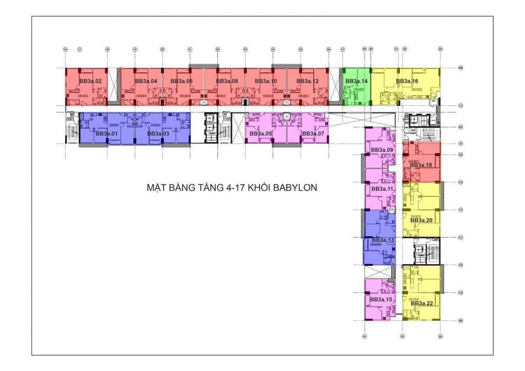Tầng 4-17 - Tháp Babylon
