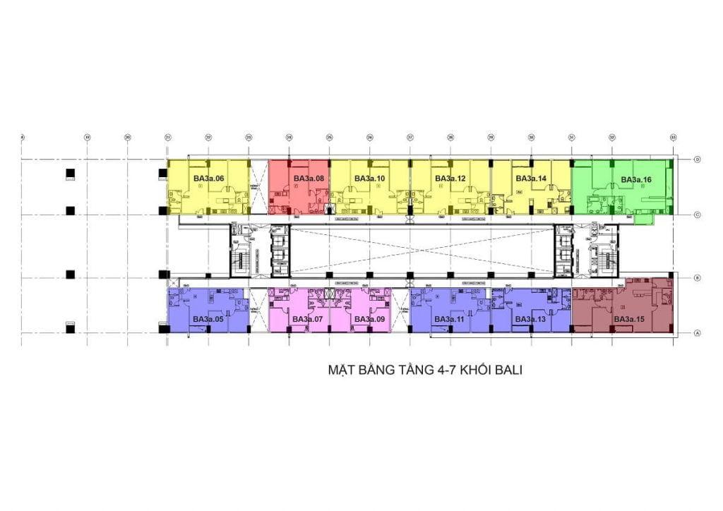 Tầng 4-7 - Tháp Bali