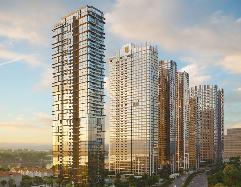 Kiến trúc các tòa tháp của Grand Marina Saigon