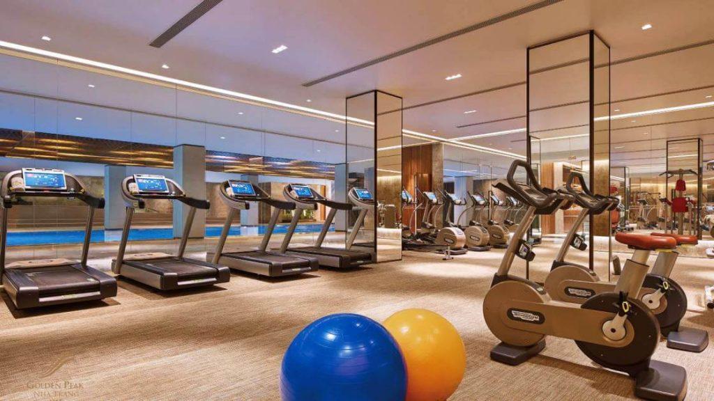 Phòng gym tại tầng 4